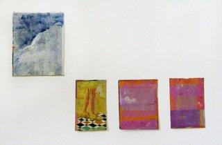Bonheur peinture à l'émulsion sur papier et feuilles de cuivre  dimensions variables